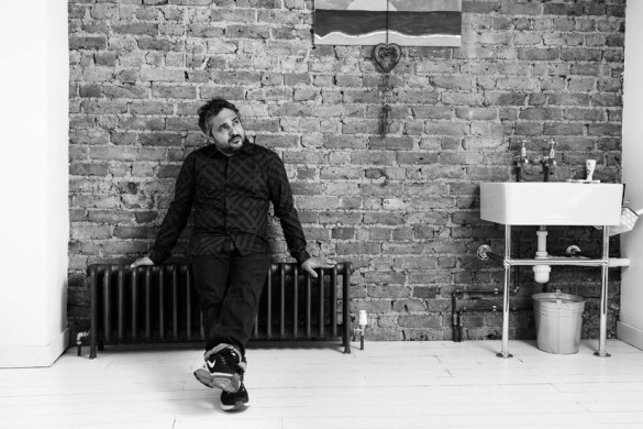 Celebrated italian hair stylist Angelo Seminara, pictured at home in London today.  ©Justin Griffiths-Williams